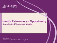 Health Reform as an Opportunity