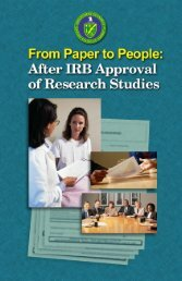 From Paper to People: After IRB Approval of Research Studies