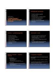 A vezetési folyamat I. Döntéselőkészítő és támogató rendszerek