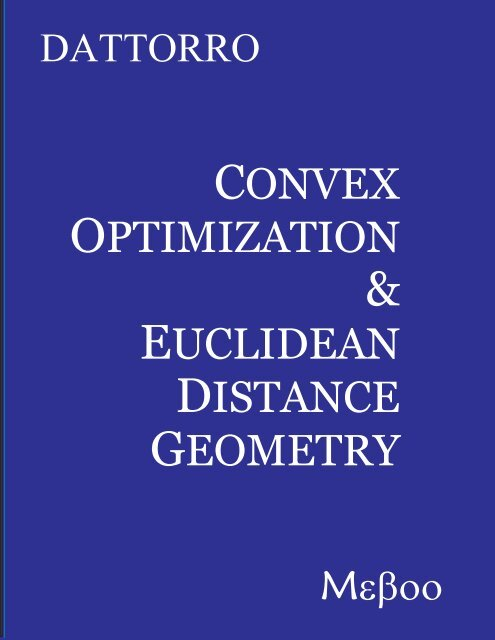 v2007.09.17 - Convex Optimization