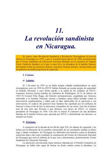 11. La revolución sandinista en Nicaragua.