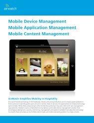 Mobile Device Management - Hospitality Technology