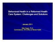 Dr. Michael Hogan Presentation - The Coalition of Behavioral Health ...