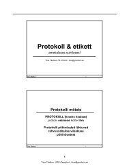 Protokoll & etikett