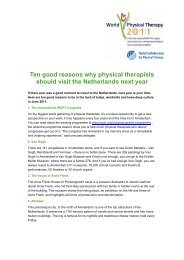 Ten good reasons why physical therapists should visit the ...
