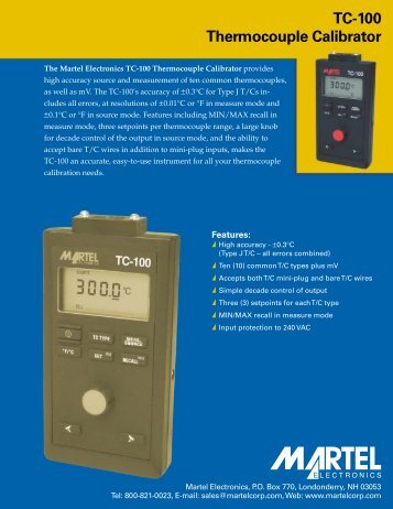 TC-100 Thermocouple Calibrator - TechnoMad