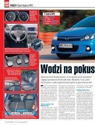 Wodzi na pokuszenie. Testy. Opel Astra OPC (plik ... - Opel Dixi-Car