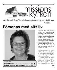 Försonas med sitt liv - Missionskyrkan Tibro