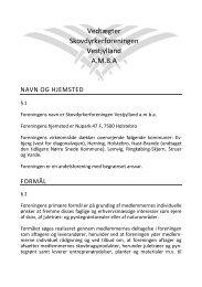 Vedtægter for Skovdyrkerforeningen Vestjylland 2012