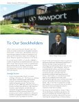 Newport 2009 Annual Report - Newport Corporation - Page 3