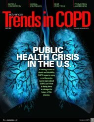 Trends in COPD • July 2013 - ADVANCE for Respiratory Care and ...