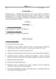 Obec ..... Územní plán - Ústav územního rozvoje