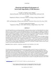 Electrical and Optical Performance of InAs/GaSb Superlattice LWIR ...