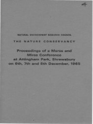 Proceedings of a Meres and Mires Gonference at Attingham Park ...