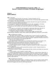 LEGGE REGIONALE 22 gennaio 1999, n. 4 Norme in materia di ...