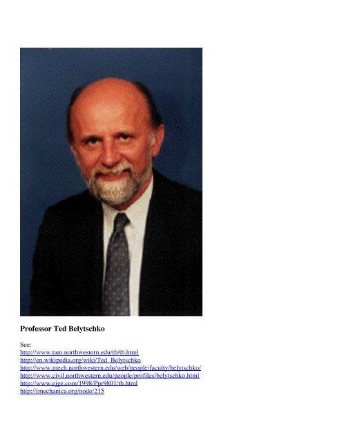 Professor Ted Belytschko - Shell Buckling