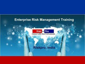 Enterprise Risk Management Training Riskpro, India