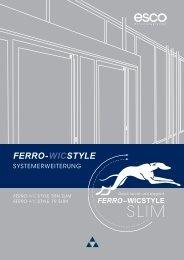 FERRO-WICSTYLE - esco   Metallbausysteme - esco ...
