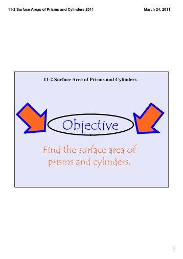11-2 Surface Areas of Prisms and Cylinders 2011.pdf