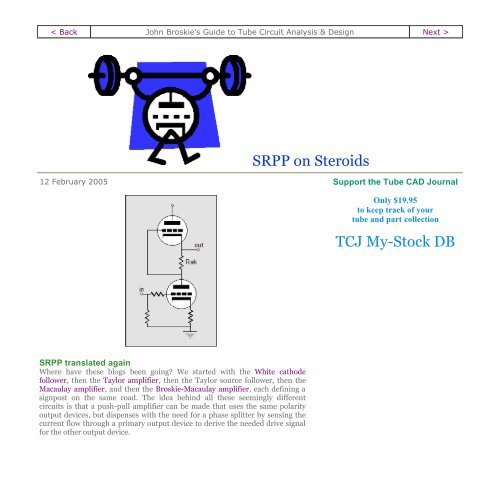 SRPP on Steroids TCJ My-Stock DB - Tube CAD Journal