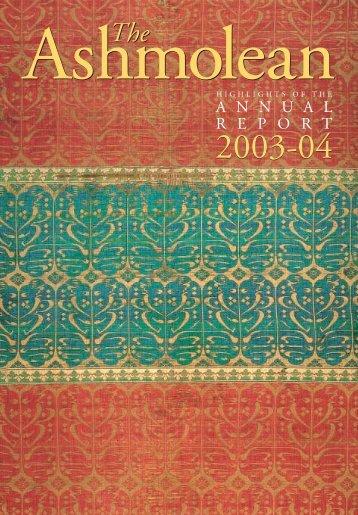 Ashmolean Annual Report 2004B - The Ashmolean Museum