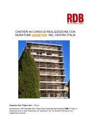 cantieri in corso di realizzazione con murature nel centro italia - Rdb
