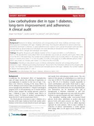 Low carbohydrate diet in type 1 diabetes, long-term improvement ...