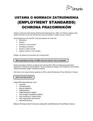 Polish - Employment Standards Protecting Employees