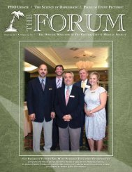 May-June 2013 The Forum - Collier County Medical Society