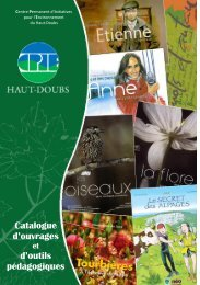 Télécharger le catalogue d'édition - La maison de l'environnement ...