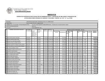 declaraciones juradas de ingresos y de bienes - UNPRG