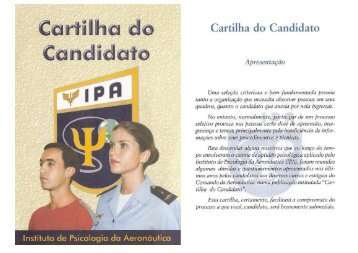 Cartilha do Candidato - CIAAR