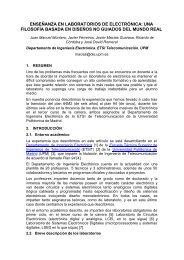 enseñanza en laboratorios de electrónica - Universidad Politécnica ...
