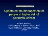Management of people at higher risk - Bowel Cancer UK