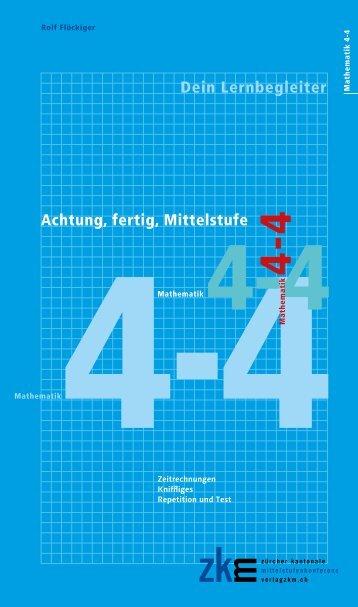 Achtung, fertig, Mittelstufe Mathematik 4-4