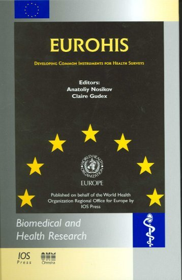 EUROHIS: Developing Common Instruments for Health Surveys