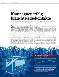 Kampagnenerfolg braucht Radiokontakte
