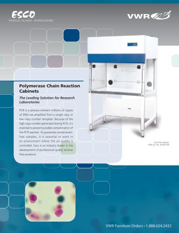 ESCO Polymerase Chain Reaction Cabinets ... - VWR International