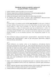 Regulamin konkursu z wyjaśnieniami - Instytut Fizyki - Uniwersytet ...