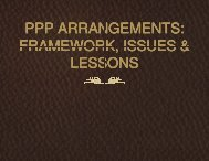 PPP Arrangements: Framework, Issues & Lessons - NigerianMuse