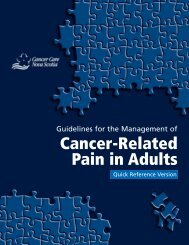 Guidelines for the Management of Cancer-Related Pain