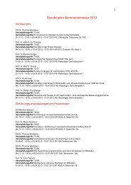 Stundenplan SS 2013-4