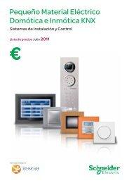 Pequeño Material Eléctrico Domótica e Inmótica ... - Schneider Electric