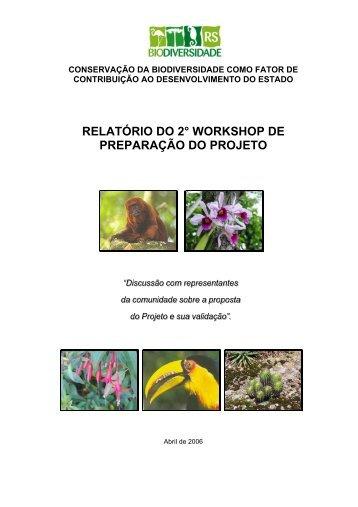 RELATÓRIO DO 2° WORKSHOP DE PREPARAÇÃO DO PROJETO