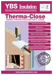 YBS 258 Therma-Close Data Sheet:YBS 258 - YBS Insulation