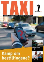 TAXI nr. 7/11 - Norges Taxiforbund
