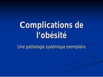 Complications de l'obésité - Aepu.lu
