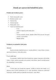 Zásady pro zpracování bakalářské práce - Univerzita Karlova