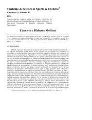 Ejercicio y Diabetes Mellitus - American College of Sports Medicine