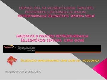 мр Решад Нухоџић, Искуства у процесу реструктурирања ...
